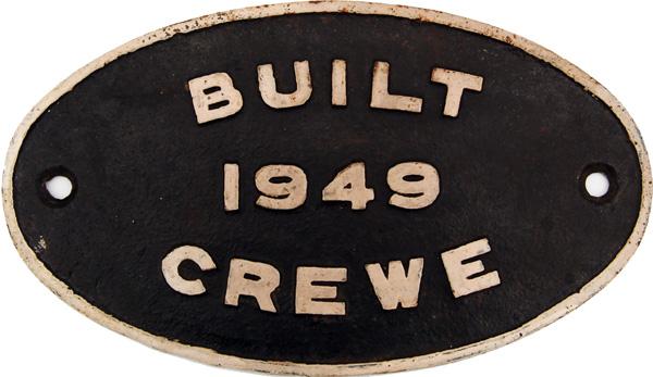 Worksplate British Railways Oval, Cast Iron