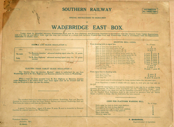 Southern Railway Framed And Glazed Notice Re