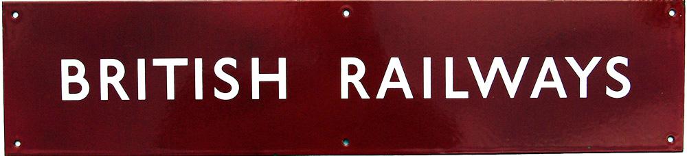 British Railways (M) Enamel Poster Board Heading