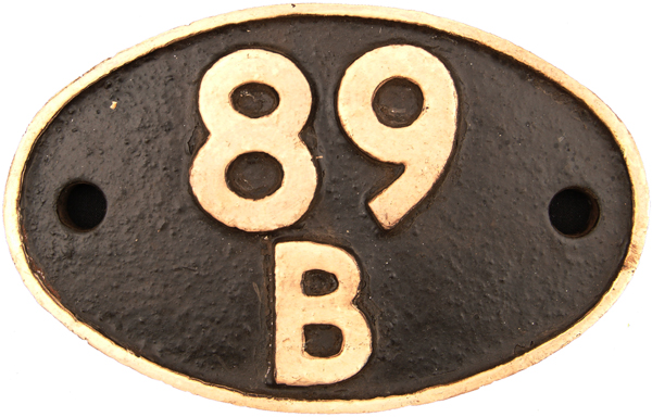 Shedplate 89b, Brecon Until November 1959 And Then