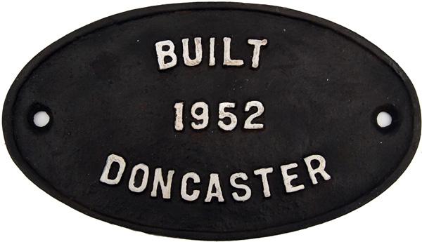 Worksplate British Railways Oval C/I
