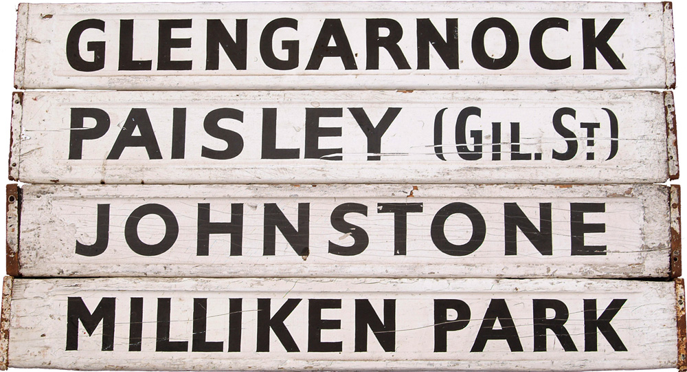 4 Wooden Indicator Boards From Glasgow St Enoch