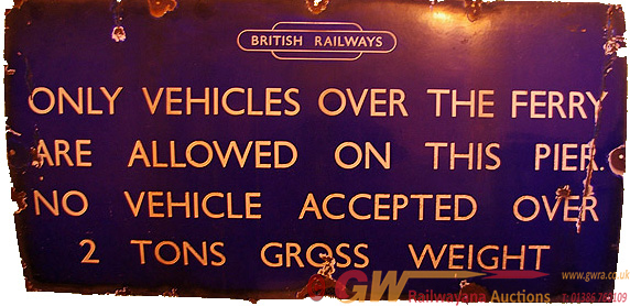 BR(E) Enamel Sign, Unflanged With British Railways