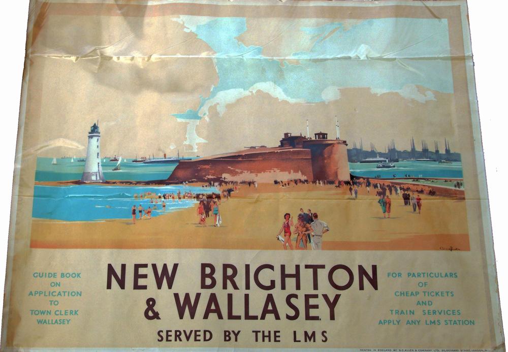 Poster, LMS Q/R 'New Brighton & Wallasey - Served
