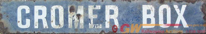 Great Eastern Railway Original, Enamel Signal Box