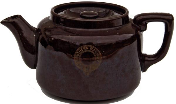 Southern Railway Brown Salt Glazed Teapot By Dunn