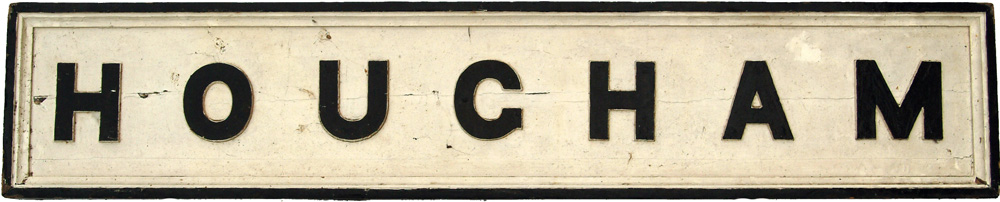 GNR Or Later LNER Signal Box Name Board HOUGHAM.