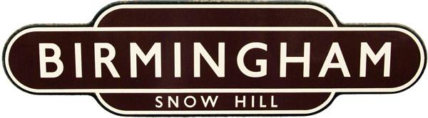 Totem, BR(W) BIRMINGHAM SNOW HILL, F/F. Ex GWR