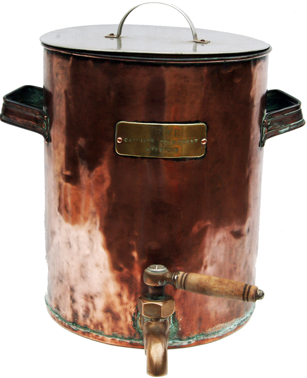 GWR Copper Tea Urn Plated GWR Carriage Dept Mess