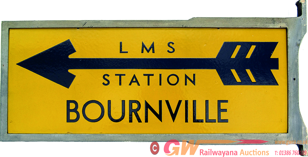 LMS Double Sided Enamel Direction Sign LMS STATION
