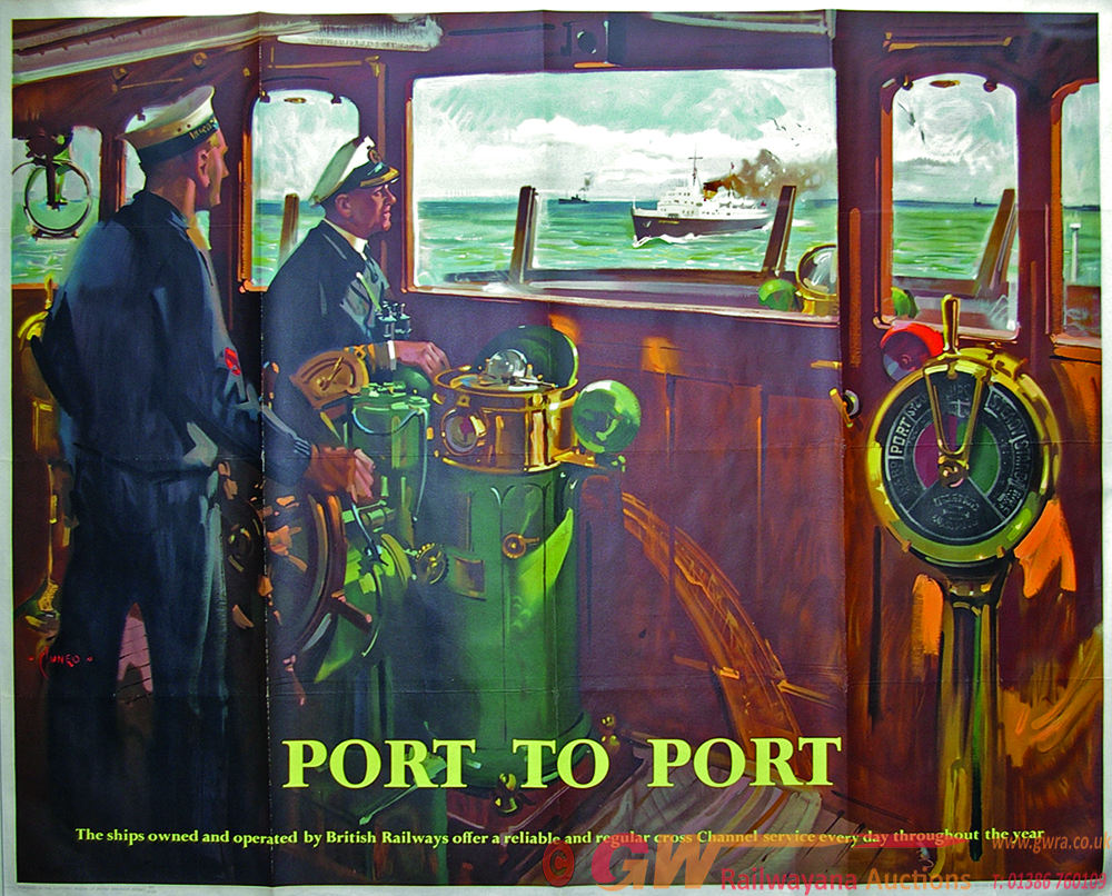 Poster, BR(S)  'Port To Port' Q/R Size With