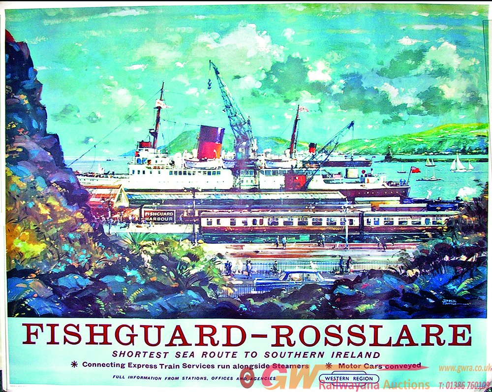 Poster, BR(W) 'Fishguard - Rosslaire,' Q/R Size