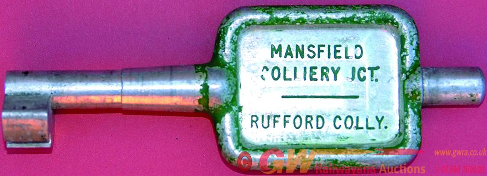 Alloy Key Token MANSFIELD COLLIERY JCT - RUFFORD