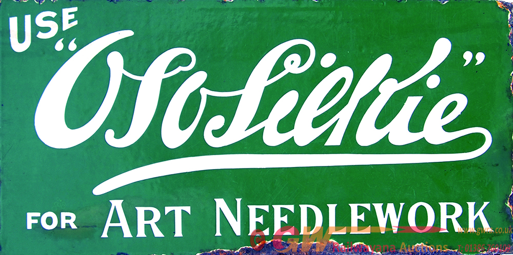 Enamel Advertising Sign 'Use Ososilkie For Art