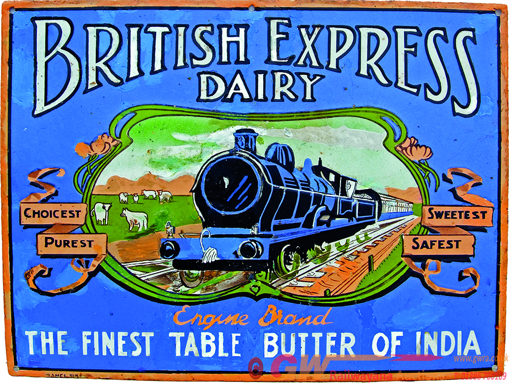 Enamel Advertising Sign 'British Express Dairy -