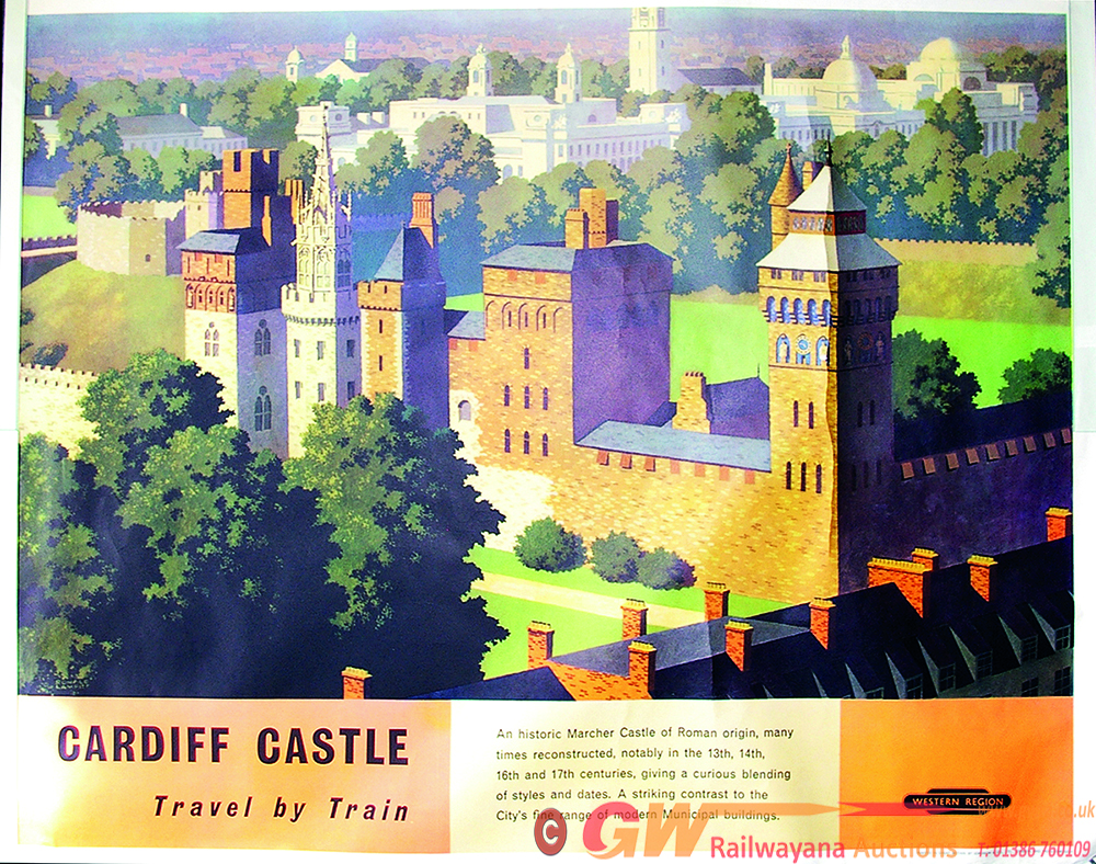 Poster, BR 'Cardiff Castle', Q/R Size With Artwork