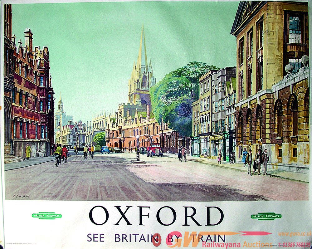 Poster, BR 'Oxford - Travel By Train',  Q/R Size