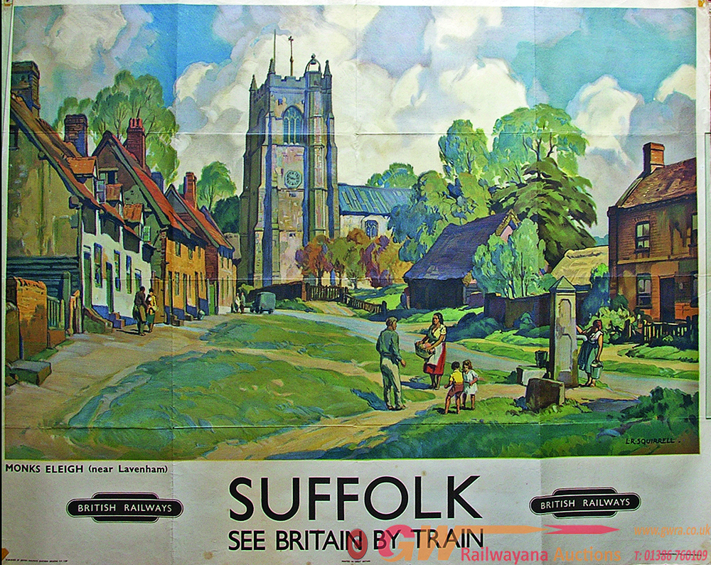 Poster, BR(E) 'Suffolk - See Britain By Train -