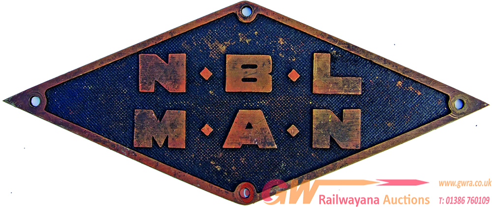 N.B.L  - M.A.N. Brass Diamond Plate As Affixed To