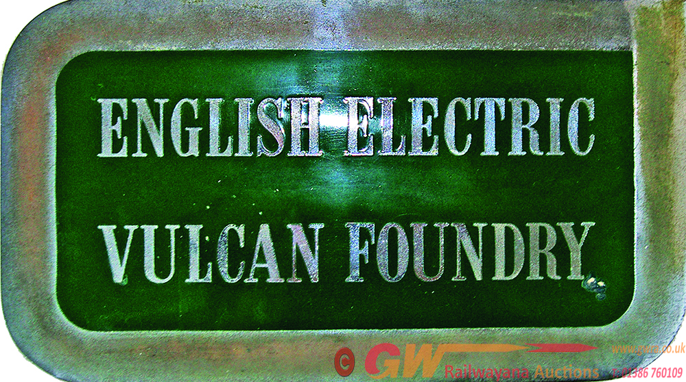 Worksplate English Electric Vulcan Foundry, Alloy