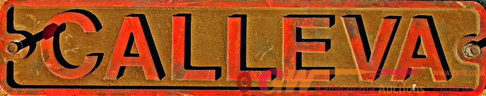 Industrial Nameplate, CALLEVA,  Alloy Construction