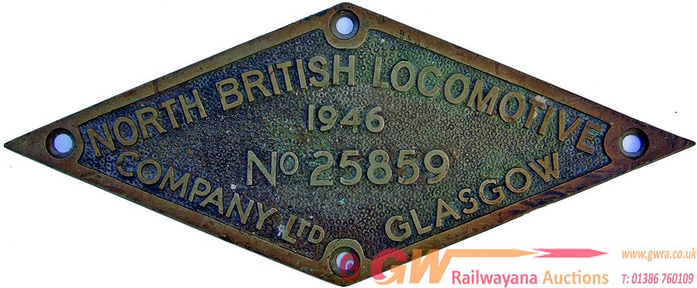 Worksplate, North British Locomotive Company Ltd