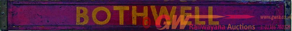 BR(Sc) Wooden Carriage Board HYNDLAND , BOTHWELL,
