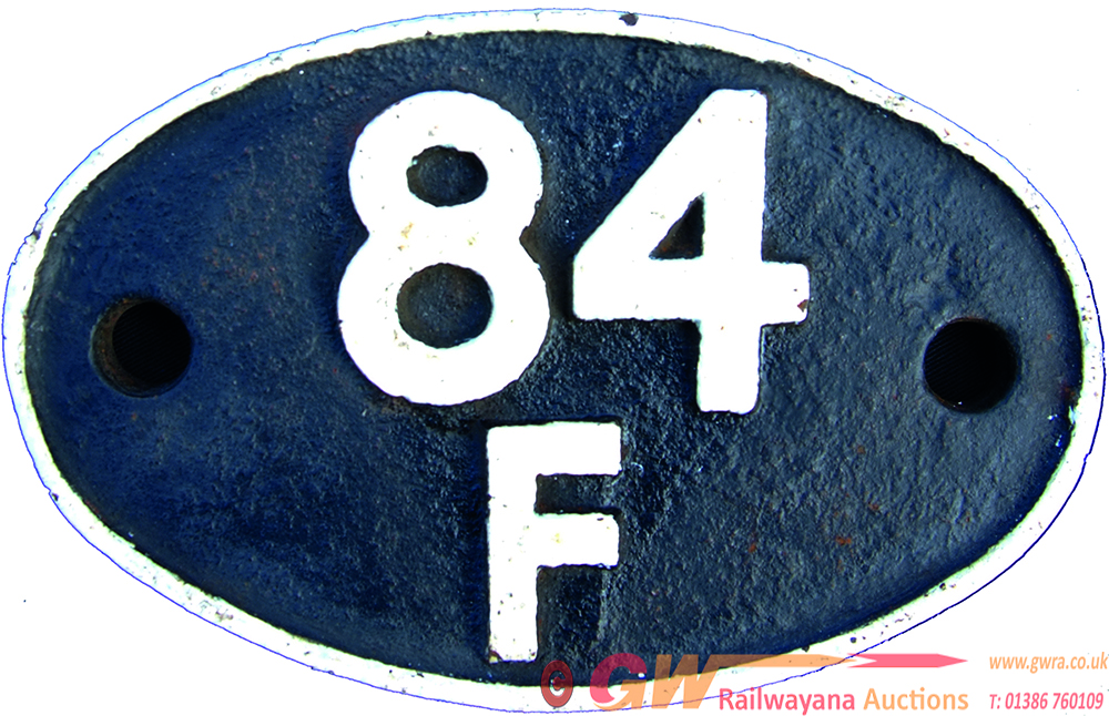 Shedplate 84f, Stourbridge Junction Until