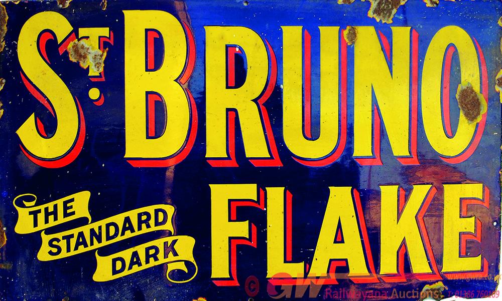 Enamel Advertising Sign St Bruno - The Standard