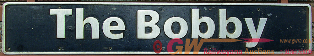 Nameplate THE BOBBY, Ex Class 47 Number 47743