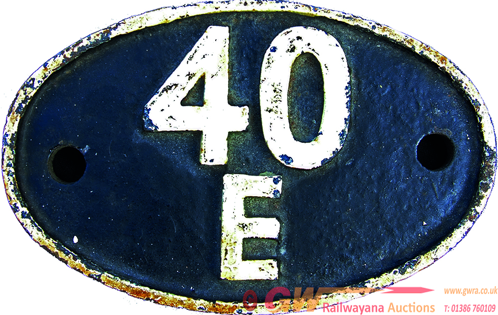 Shedplate 40e Langwith Junction Until July 1958