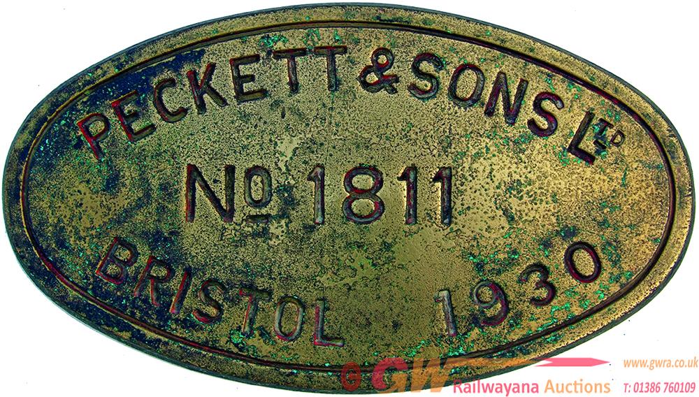Worksplate Peckett & Sons Ltd., Bristol Number