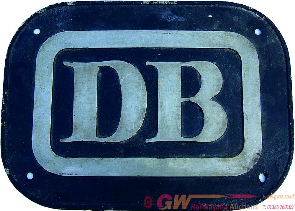 German Railways Cabside Plate 'DB' Ex Deutsche