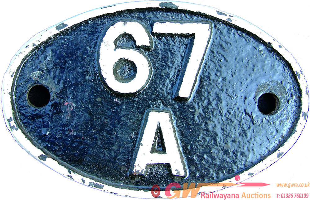 Shedplate 67a Corkerhill. Originally Built By The