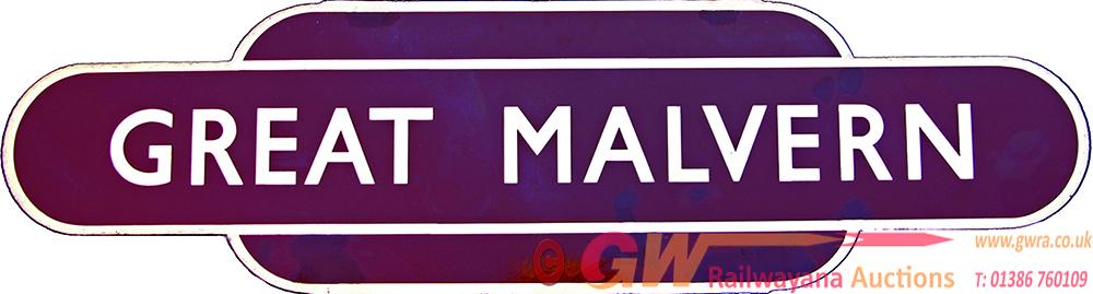 Totem, BR(W) GREAT MALVERN H/F.  Ex GWR Station,