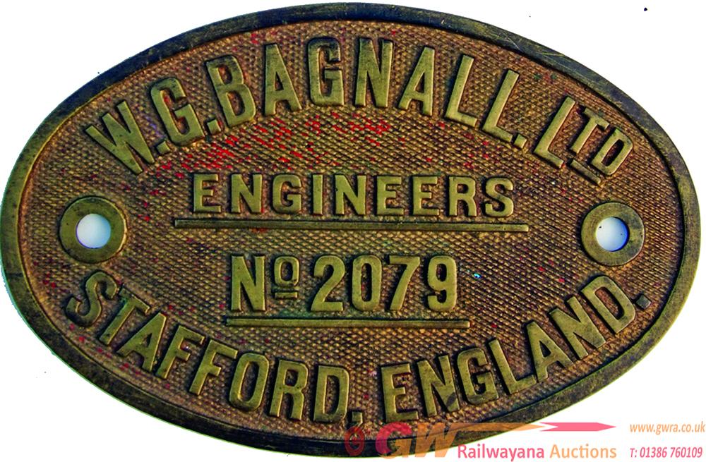 Worksplate W.G. Bagnall Ltd Engineers No. 2079
