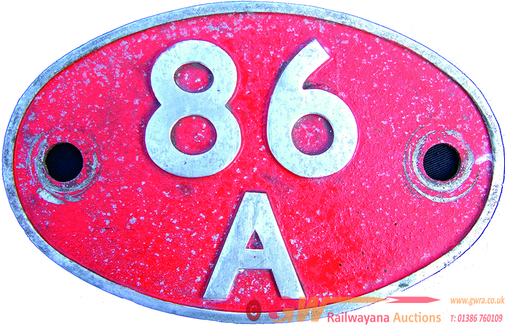Shedplate 86a, Cardiff Canton Until May 1973,
