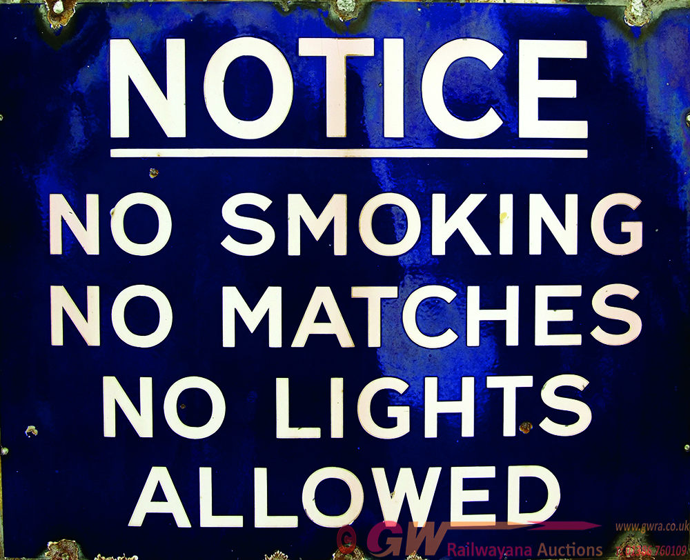 Enamel Advertising Sign, Ex Garage Notice - No
