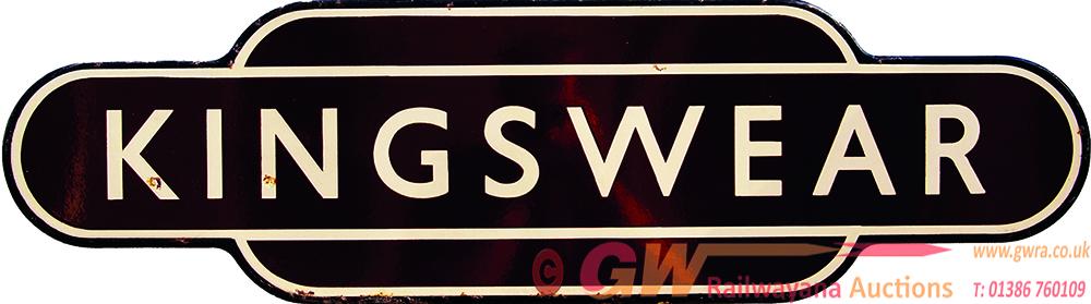 Totem, BR(W) KINGSWEAR, F/F. Ex GWR Terminus