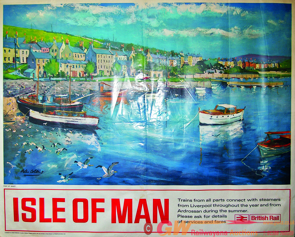 Poster, BR Q/R Isle Of Man Artwork By Peter