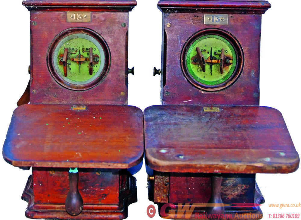 LNER Wooden Telegraph Instruments, A Rare Pair,