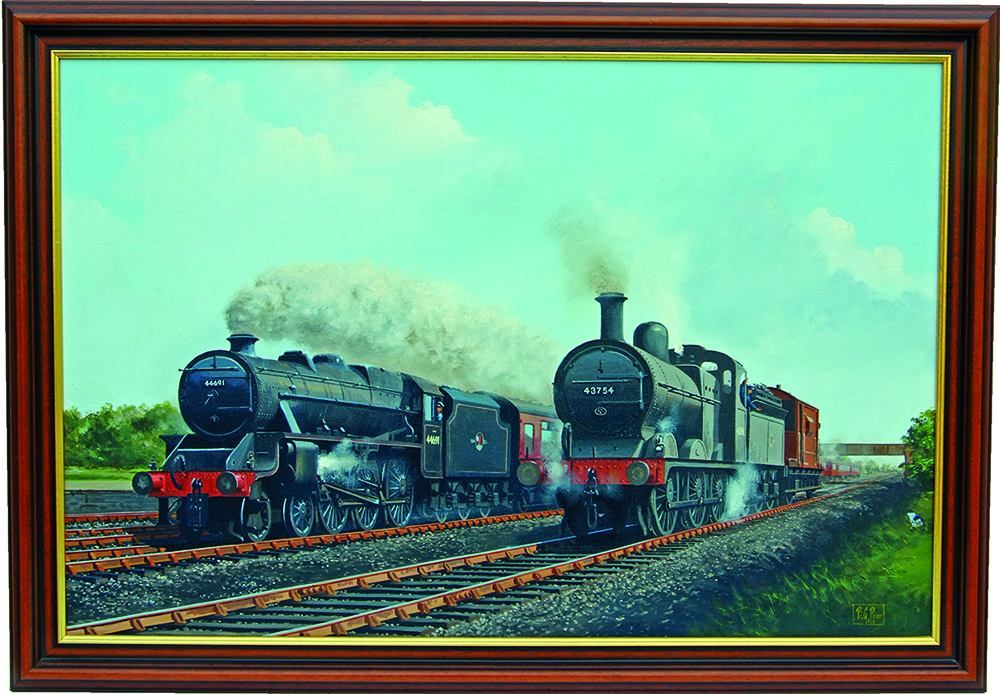Original Oil Painting Of The Midland Mainline At