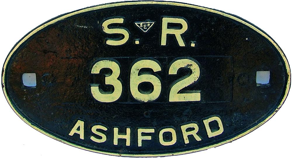 Southern Railway Ashford Oval C/I Wagon Plate No