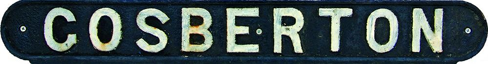 LNER C/I Seatback GOSBERTON. Ex GN & GE Joint