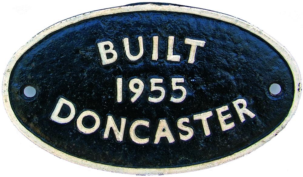 British Railways Cast Iron Oval Worksplate Built