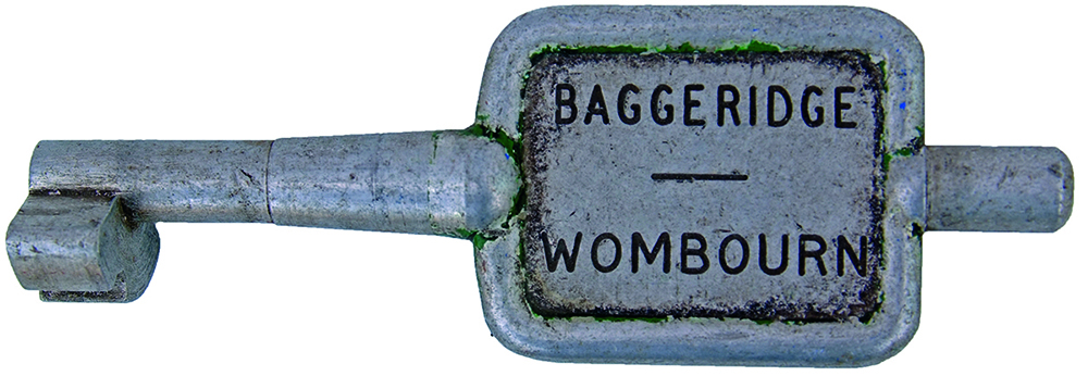 Alloy Key Token BAGGERIDGE - WOMBOURN. Ex GWR