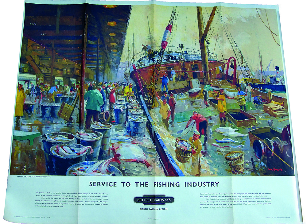 Poster 'Service To The Fishing Industry - Landing