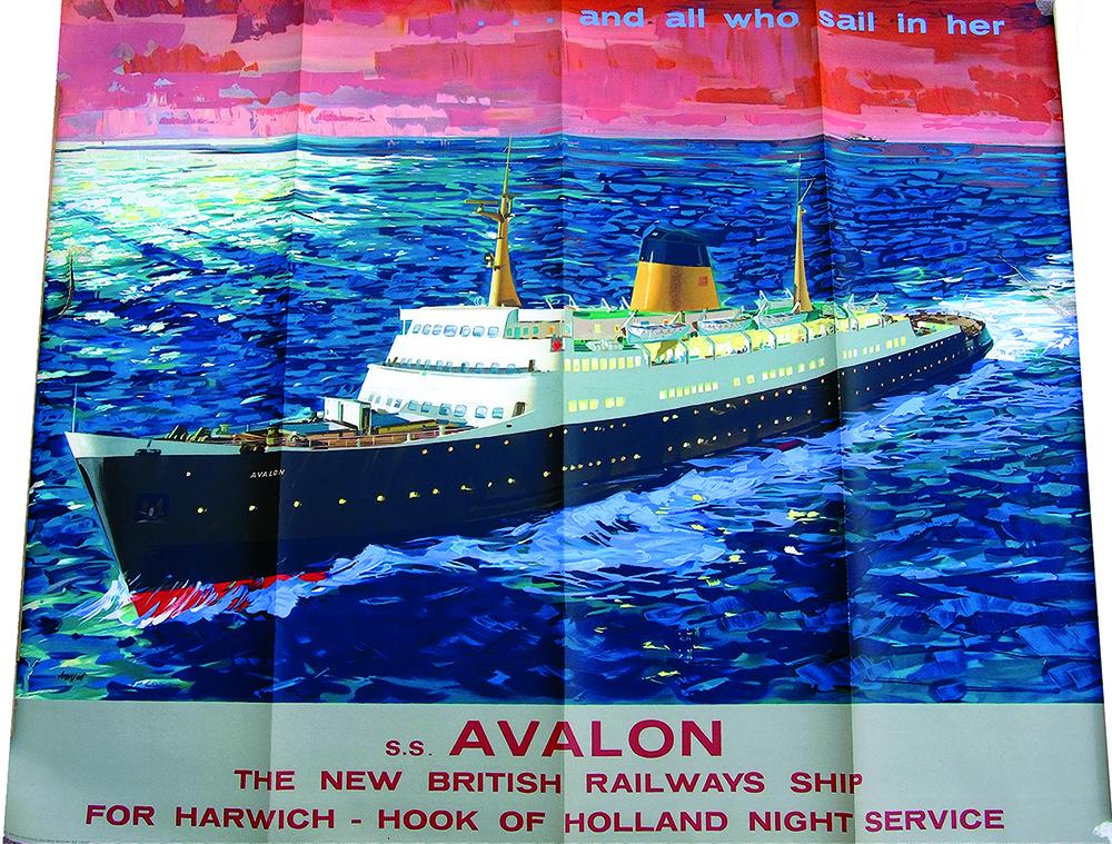 Poster 'SS Avalon - The New British Railways Ship'