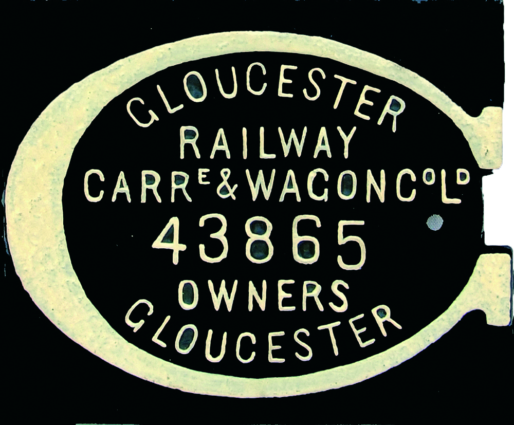 Cast Iron Wagon Owners Plate, Gloucester Railway