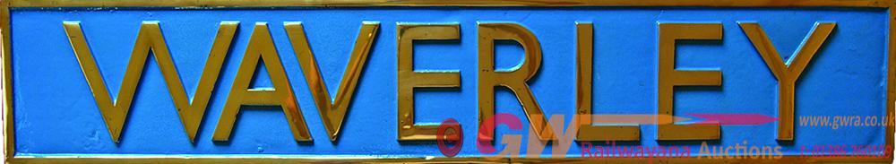Nameplate WAVERLEY, Cast Brass Measuring 41 X 7